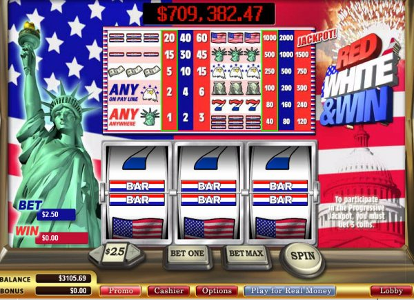 Red White and Win Slot™ Slot Machine Game to Play Free in WGSs Online Casinos