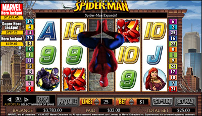 Spiderman Slots