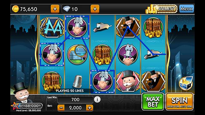 monopoly slots online game