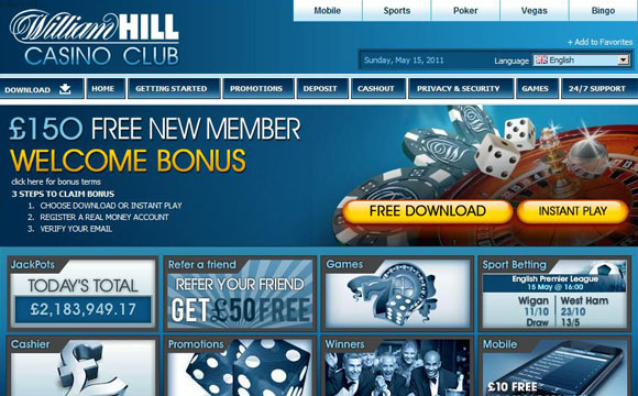 William hill online casino games