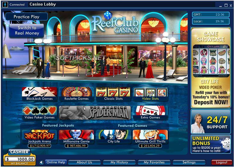 Reef Club Casino Bonus Codes