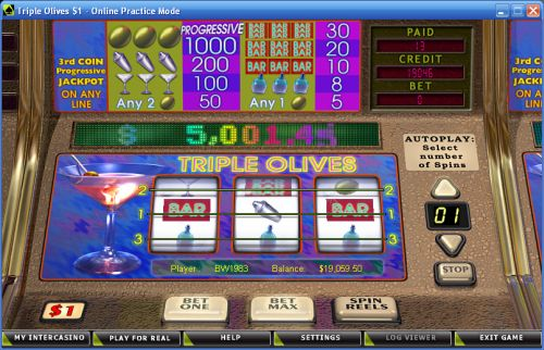 Triple Olives™ Slot Machine Game to Play Free in Cryptologics Online Casinos